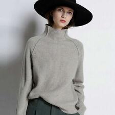 Luxury Women Cashmere Knitwear Jumper Turtleneck Pullover Loose Sweater Tops