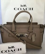 COACH  87298 Large Swagger Carryall Pebbled Leather Handbag Purse SV/Stone NWT