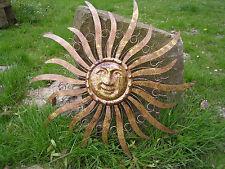 Wandhänger Sonne, Metall, ca. 68 x 68 cm, Gartendeko, Wandbild, Dekoration