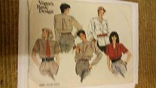 Vogue Pattern 1292 Blouse size 8-10-12 Women's   2000's