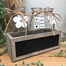 Rustic Style Mini Vase Flower Bud Bottles in Wooden Blackboard Crate Wedding