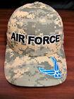 USAF US AIR FORCE Hat Military Baseball Cap Digital Camo Snapback USA VGC