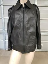 Old NSW Police Style Leather Jacket With Lambswool Insert All Insignia Removed