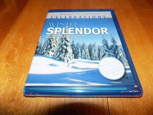 WINTER SPLENDOR Digital Virtual Nature TV Wintery Scenescape BLU-RAY DISC SEALED