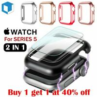 For Apple Watch Series 5 Bumper Case 40/44MM Full Cover Screen Protector iWatch