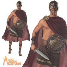 Spartan Warrior Mens Fancy Dress Greek Roman Spartacus Costume Adult Outfit