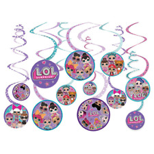 LOL Surprise Birthday Party Swirl Decorations 12 Pack
