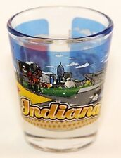 INDIANA STATE WRAPAROUND SHOT GLASS SHOTGLASS