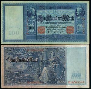Deutschland Germany 100 Mark Reichsmark 19 Ro. 43 - rotes Siegel -