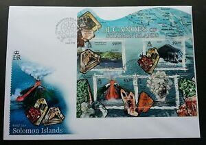 Solomon Islands Minerals 2012 Volcano Gemstone Stone Mountain (miniature FDC)