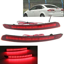 LED Rear Bumper Reflectors Light Warn Tail Brake For FORD Mondeo Fusion 11-12