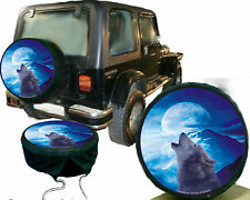 Indian Western Country Wolf in Moonlight Car Caravan Jeep Spare Wheel Reference