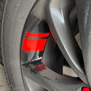 "6x Red Reflective Car Wheel Rim Vinyl Decal Sticker Car Accessories For 16""-21"""