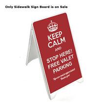 Plastic Sidewalk Sign Board in White 19.75W x 34.65H Inches