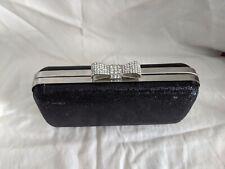 New listing Vintage black With Sparkling Bow evening bag