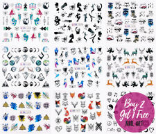 Nail Art Geometric Dream Stickers Water Decals Transfers Planet Animals Triangle