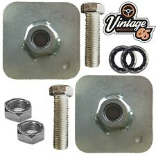 Classic Volkswagen Camper Van Seat Belt Mounting Plates 7/16 Fittings Nuts Bolts