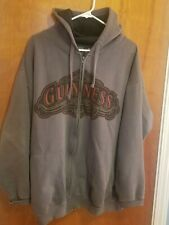 Guinness Official Merchandise Gray Hoodie Full Zip Hooded Men's XL