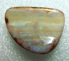 undrilled boulder opal, 57.75 carats, full face, some color, 32 x 27 x 9mm