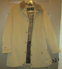 Barbour Newmarket Jacket size 12, Beige, Waterproof, Breathable, Washable-Nice!