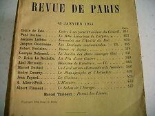 LA REVUE DE PARIS n° 2 - 1934 revue littéraire DUHAMEL LAFFITTE COEUROY etc