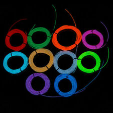 Useful Glow LED Light El Wire String Strip Rope With Battery Box Suit 1 2 3 5M