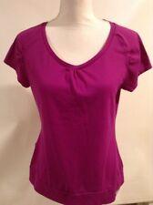 The North Face Womens Short Sleeve Shirt Vapor Wick Magenta Purple Cute Pocket L