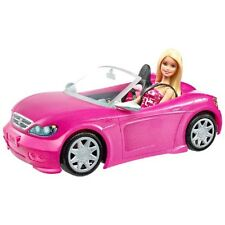 Barbie Convertible Pink Car and Doll | Glam Doll Set