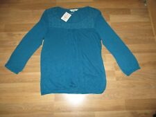 Womans long sleeved lace top size 14 Turquoise