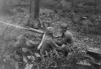 WW2  Photo WWII US Army 1917 Browning Hurtgen Forest  World War Two / 1640
