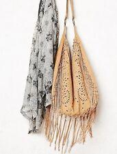 Free People Jones Fringe Hobo Beige Bag By Muche et Muchette $170 Very Rare Bag