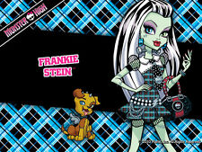 MONSTER HIGH Cialda in ostia torta compleanno Frankie