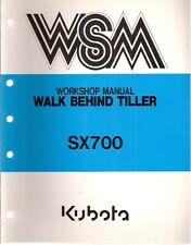Kubota Model Sx700 Walk Behind Tiller Workshop Manual