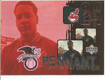 "2000 Upper Deck #PD7 MANNY RAMIREZ ""Pennant Driven"" Baseball Card"