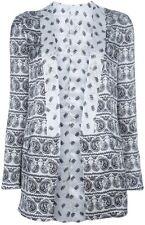 Pierre Balmain Multi-Color Silk Reversible Paisley Pattern  Jacket Size 44