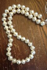 Vintage NOS M. Haskell Rustic Coat Glass Pearl Luster Baroque Bead Strand Lot