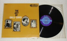 THE ART OF GALLI-CURCI Verdi Bizet LP Vinyl RCA Camden CAL410 Mono 1958 * RARE