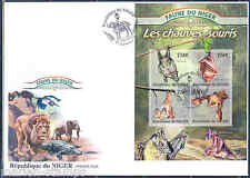 NIGER 2013 FAUNA OF AFRICA  BATS  SHEET FIRST DAY COVER
