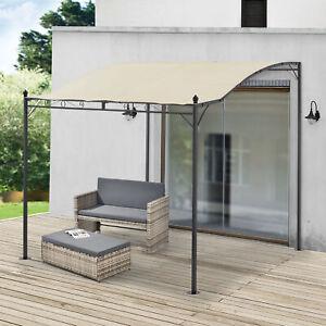 [en.casa] Pavillon Pergola Gartenzelt Terrassendach Sonnenschutz Beige 300x250cm