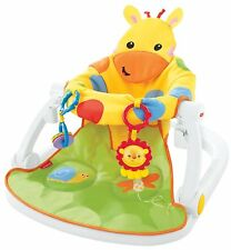 Fisher-Price Giraffe Sit-Me-Up Soft Floor Seat with Tray Portable Baby Seat