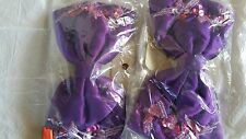 Ladies or Childrens Hair Bows, Purple Satin with Light and Dark Pink Sequins