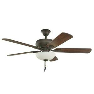 NEW!!  HAMPTON BAY Rothley II 52 in. Bronze LED Ceiling Fan with Light Kit