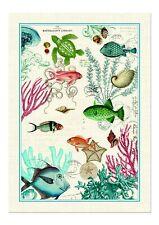 "Michel Design Works, ""Sea Life"", Pure cotton printed tea towel."