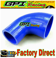 "90 Degree 76-102mm 3"" to 4"" Silicone Elbow Reducer Hose INTAKE INTERCOOLER PIPE"