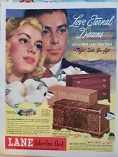 1948 Lane Cedar Hope Chest Love Eternal Dawns No 2231 2221 Model Ad
