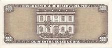 Peru - 500 Soles de Oro 16 de Octubre de 1970 aUNC - Pick 104b