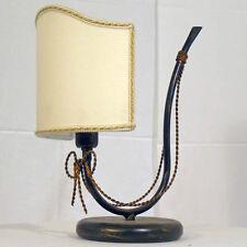LUME LAMPADA DA TAVOLO LED ART.35 FERRO BATTUTO ARTIGIANALE COUNTY ANTICO NUOVO