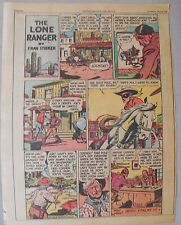 Lone Ranger Sunday Page by Fran Striker and Charles Flanders from 7/25/1943
