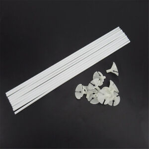 10~100X White Balloon Sticks Plastic Holder Accessory Party Latex Balloon Stick