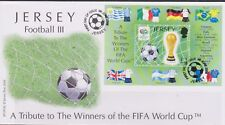Gb-Jersey Football 2006 Pt 3/Coupe du Monde FIFA 2 £ Soccer Mini-Feuille SG MS1274 FDC